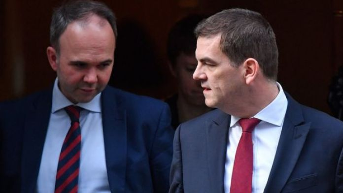 Gavin Barwell and Olly Robbins