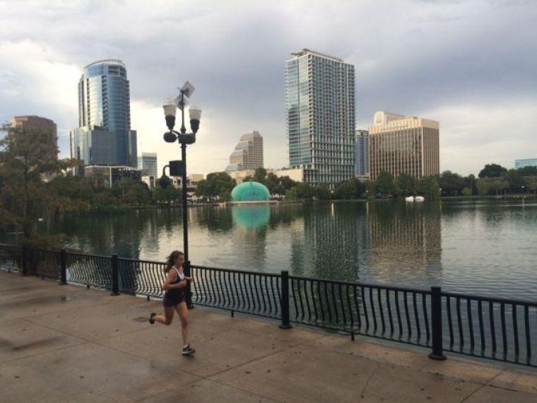 Parque no centro de Orlando, na Flórida