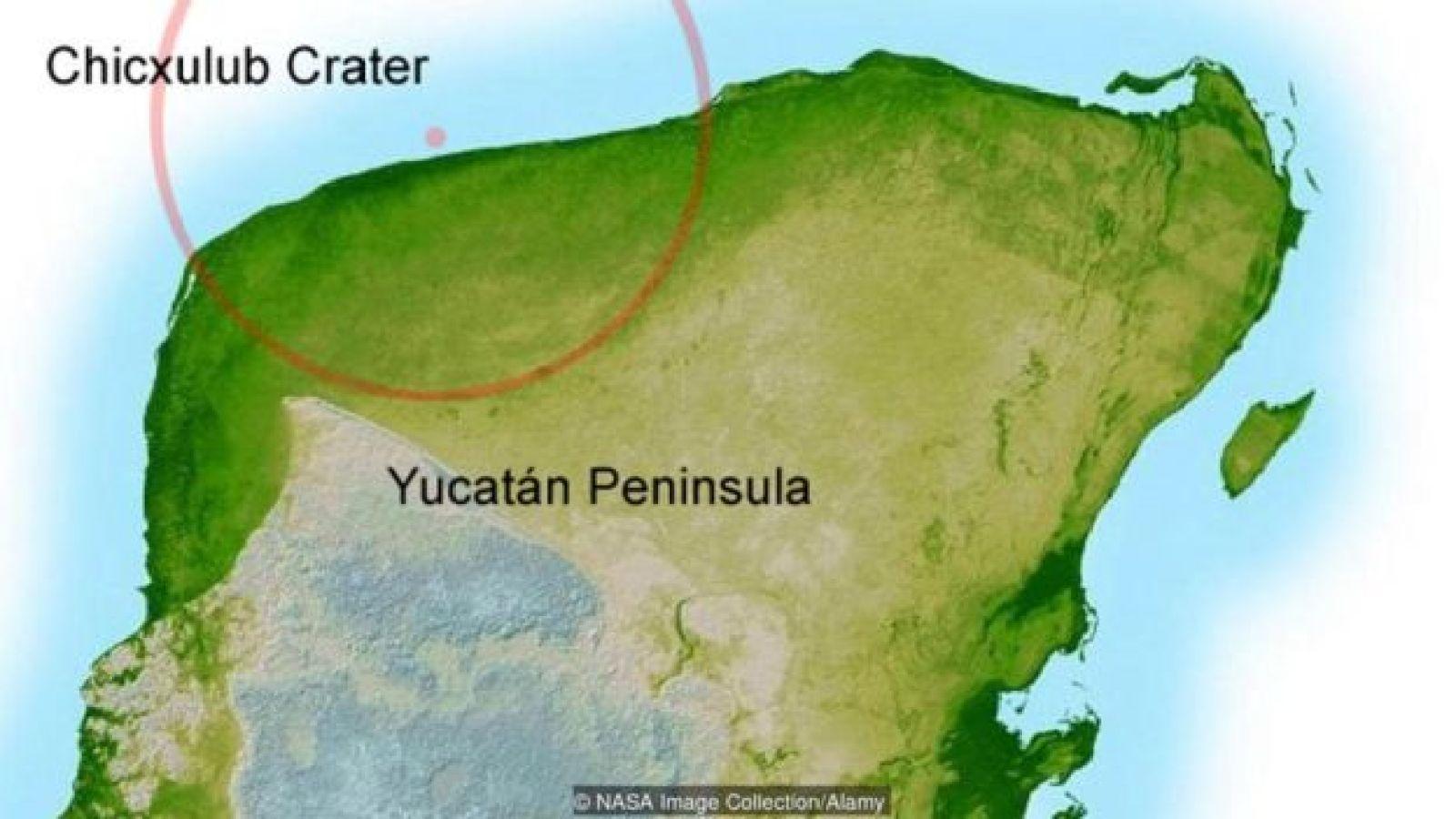 Imagen de la península de Yucatán.