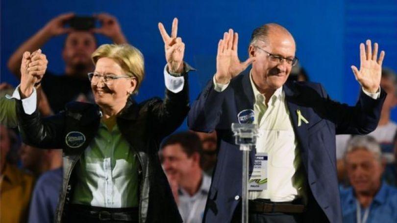 Ana Amélila e Geraldo Alckmin