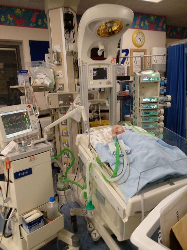 Luca en cuidados intensivos