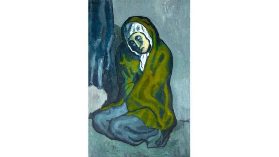 """لوحة """"المرأة الجاثية"""" لبيكاسو"""