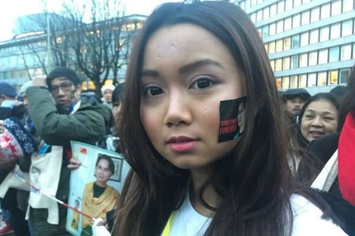 Aung San Suu Kyi supporter Pho phyu Thant pictured outside court