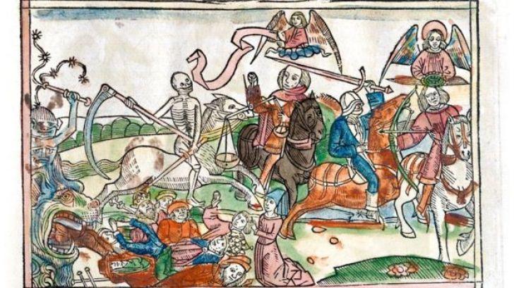 Cavaleiros do Apocalipse retratados em Bíblia de 1522