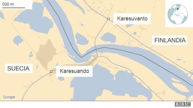 Mapa Karesuvanto