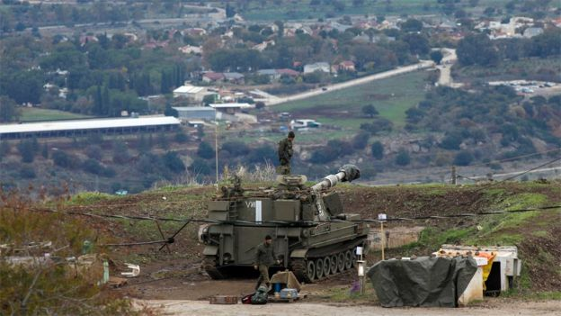 Israeli troops in the occupied Golan Heights (3 January 2020)