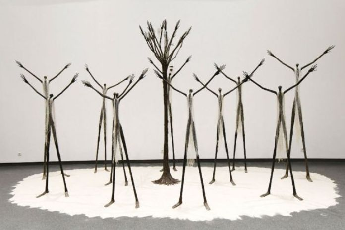 Sculptures on display at the Museum of Black Civilisations in Dakar