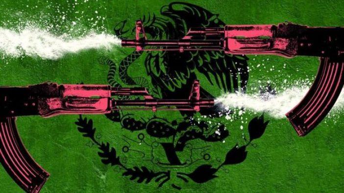 Ilustración narcotráfico mexicano