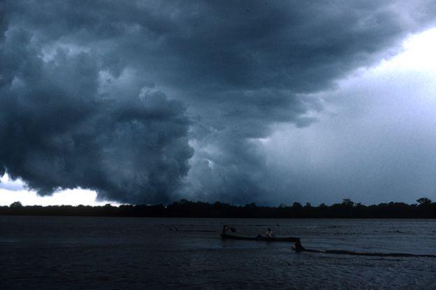 Una tormenta en el Amazonas.