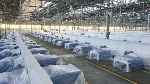 A general view of the beds in the Rev Dr Elizabeth Mamisa Chabula-Nxiweni Field Hospital in Korsten, Port Elizabeth on June 22, 2020.