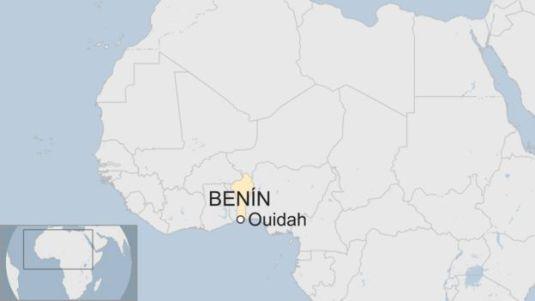 Ubicación de Ouidah, Benín
