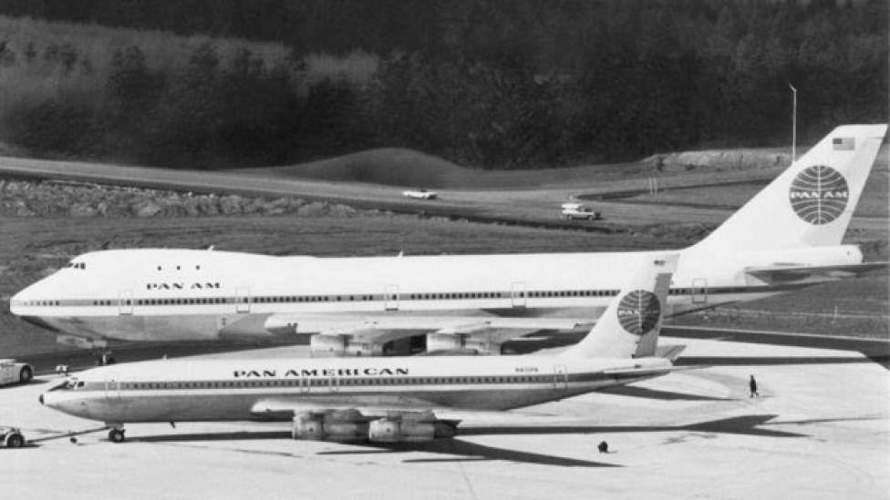 El 747 fue construido con miras a superar ampliamente la capacidad de su antecesor el 707.
