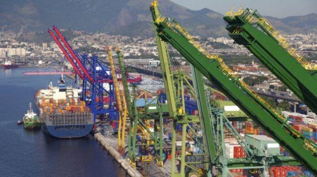 Vista do porto do Rio de Janeiro