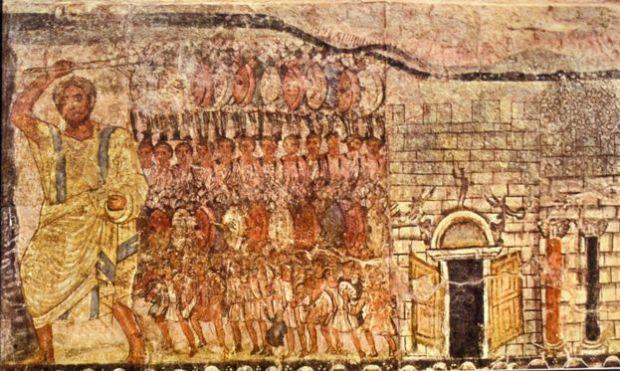 সমুদ ভাগ করে লোহিত সাগর পাড়ি দিচ্ছেন নবী মুসা