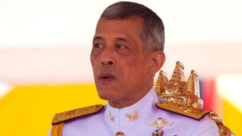 File image of Thai King Vajiralongkorn outside Bangkok's royal palace on May 14, 2018