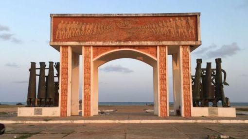 """La """"Puerta de no retorno"""", en Ouidah."""