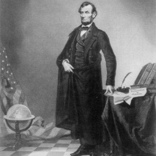 Retrato do presidente Abraham Lincoln