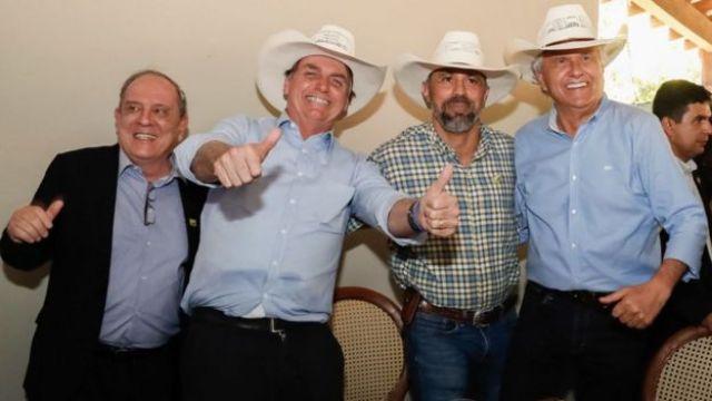 Bolsonaro e Caiado em Goiás