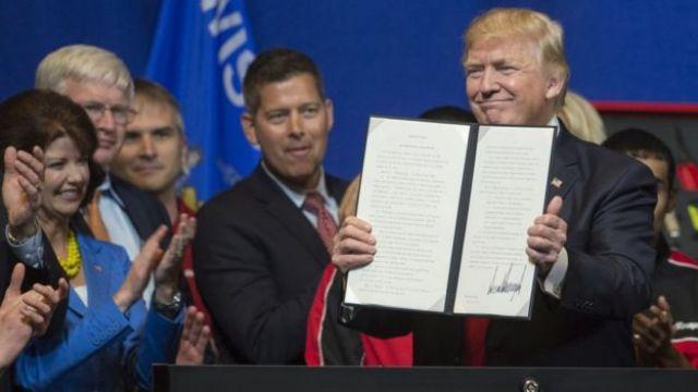 Trump com a ordem executiva