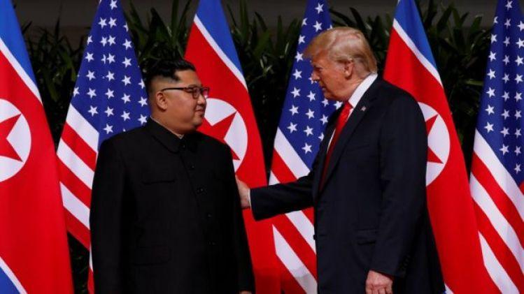 Donald Trump y Kim Jong-un en Singapur.