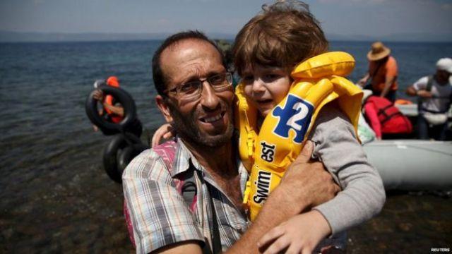 Syrian boy rescued off Lesbos, 6 Aug 16