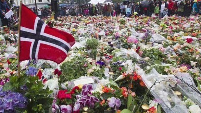Homenajes a las víctimas de Breivik.