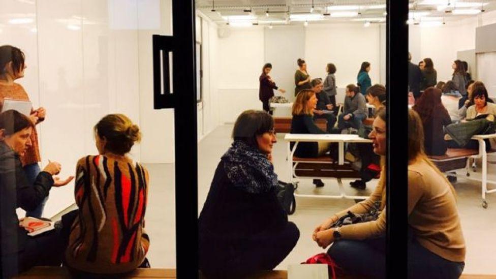 Un aula de la Universidad Pompeu Favra, Barcelona