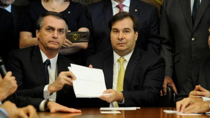 bolsonaro e Rodrigo Maia
