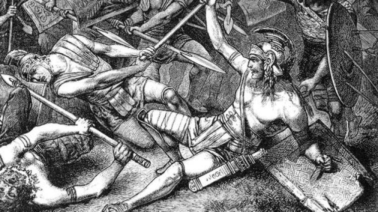 Illustração da morte de Spartacus
