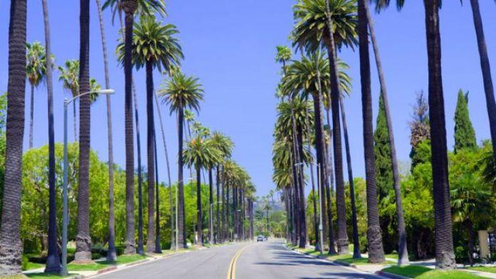 Carretera en Los Ángeles, California