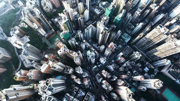 Prédios em Hong Kong