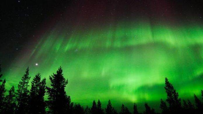 Imagen de auroras boreales.