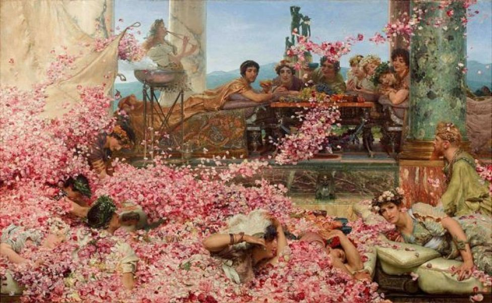 """Las rosas de Heliogábalo"", del pintor holandés Lawrence Alma-Tadema"