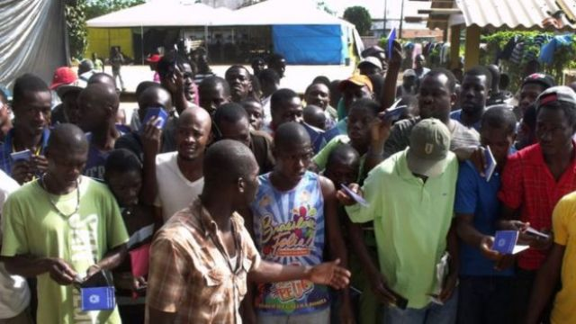 Haitianos no Acre em 2013