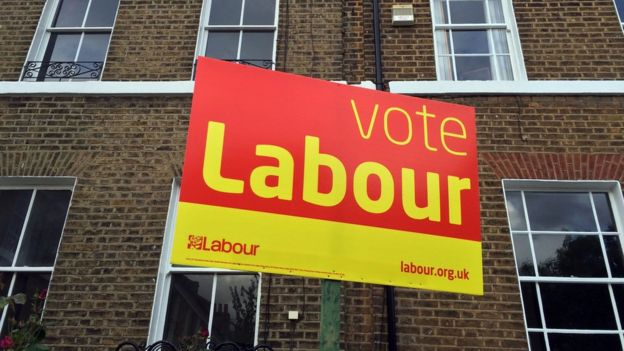 A 'Vote Labour' sign