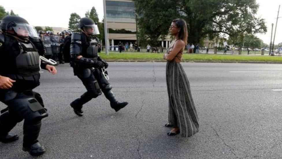 'Siyah Hayatlar Önemlidir' gösterilerinden biri