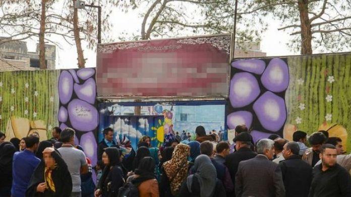 تجمع والدین مقابل مدرسه پسرانه اصفهان
