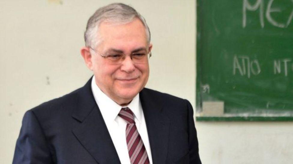 Greek Prime Minister Lucas Papademos file photo taken on May 06, 2012
