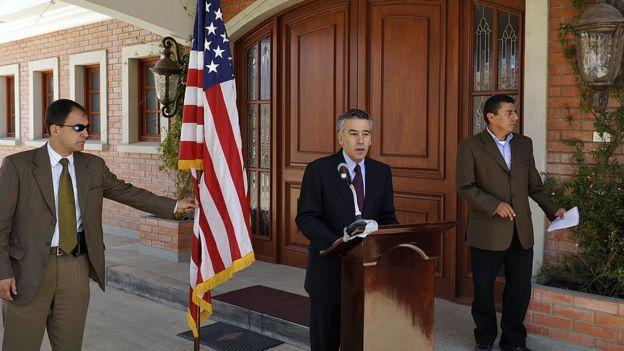 Goldberg en conferencia de prensa