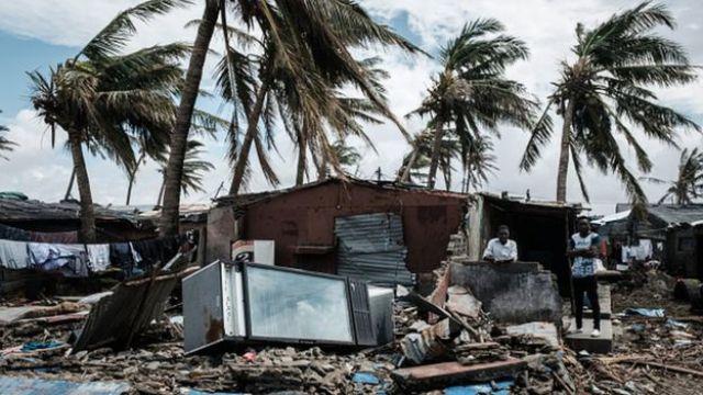 Casa devastada pelo ciclone Idai