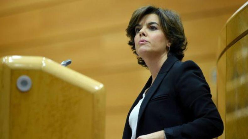 La vicepresidenta del gobierno español, Soraya Sáenz de Santamaría. 26 de octubre de 2017
