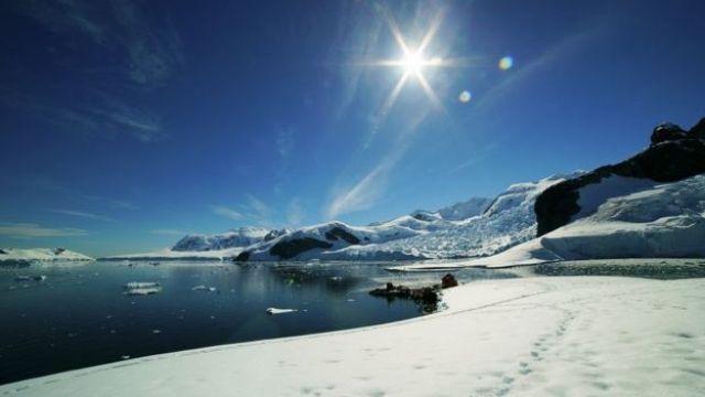 Vista da Antártida
