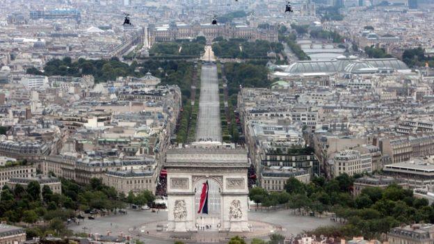 París desde el aire