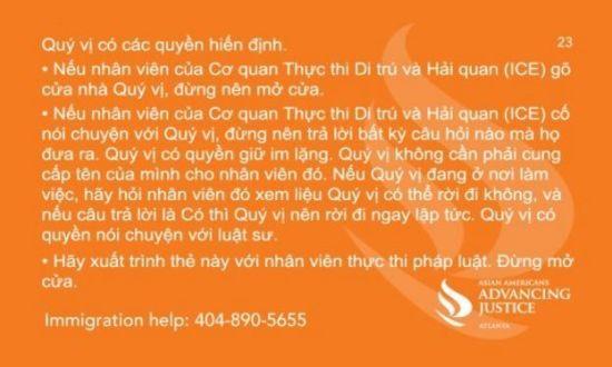 Thông tin cảnh báo cho người Việt tại Hoa Kỳ