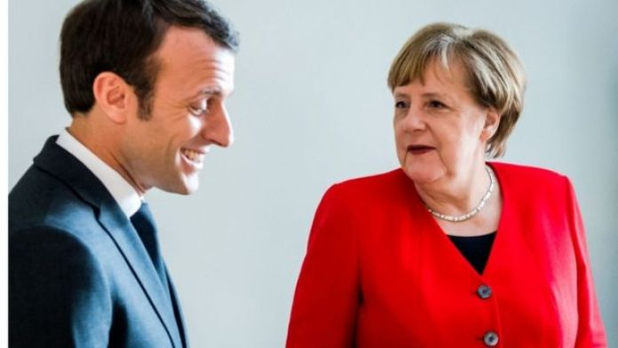 Emmanuel Macron and Angela Merkel