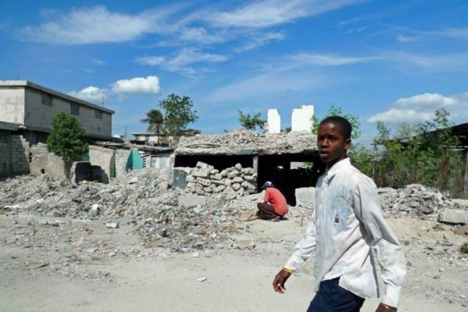 Ruínas do terremoto de 2010 em Porto Príncipe, no Haiti