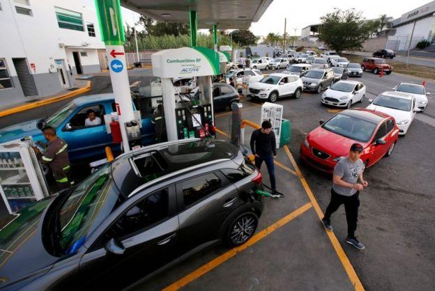 Die wichtigsten Städte der Welt und des mexikanischen Stadtzentrums befinden sich in der Nähe des Brennstoffs. Foto: AFP