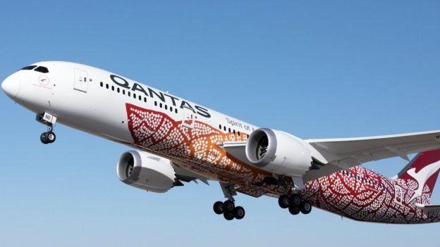 Avião de Qantas