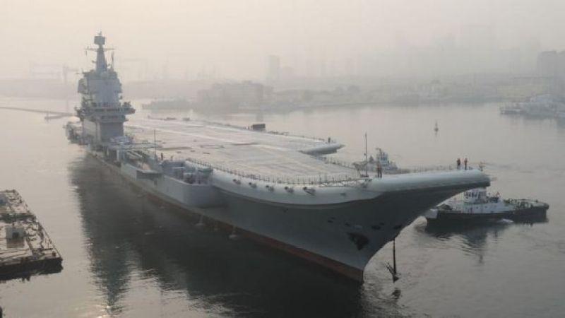 El Type 001A es el primer portaviones fabricado íntegramente en China.