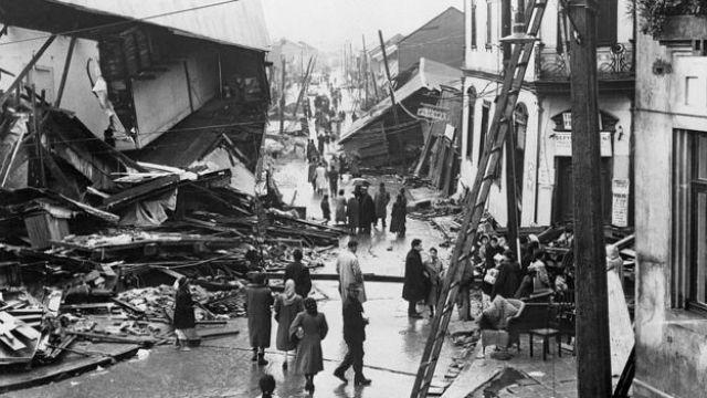 Valdívia depois do tremor de 1960